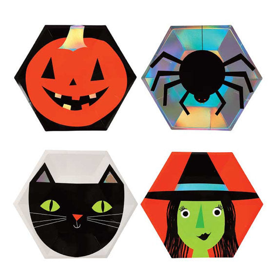 Pumpkin Spider Black Cat Witch Halloween Party Supplies and Decorations