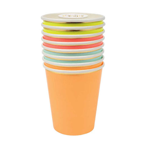 Neon Cups for You Are My Sunshine Party