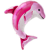 Large Pink Dolphin Balloon