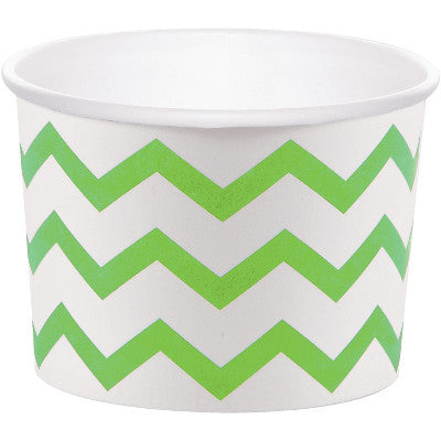 Green Chevron Treat Cup