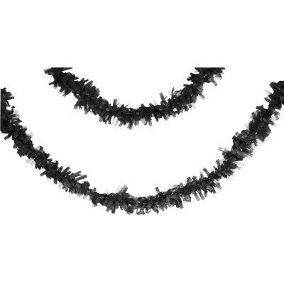 Black Fringe Garland Halloween or Graduation Party