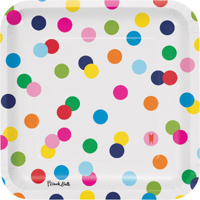 Birthday Rainbow Dot Plates
