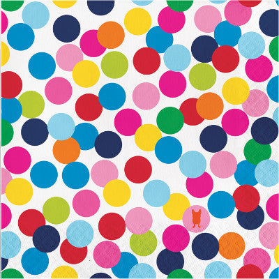 Large Rainbow Dot Napkins