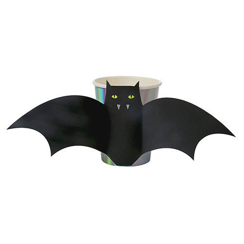 Black Bat Cups for Halloween Deocration