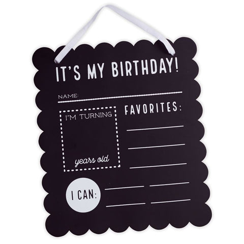 Chalkboard Birthday Signs