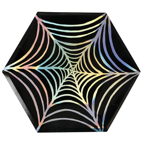 Spider Web Plates for Halloween Party