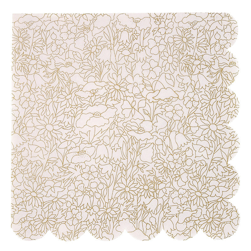 Abstract Gold Liberty Floral Napkins