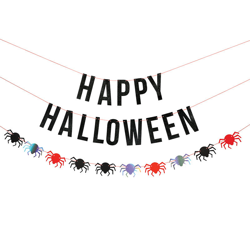 Happy Halloween Banner for Halloween Party Decorations