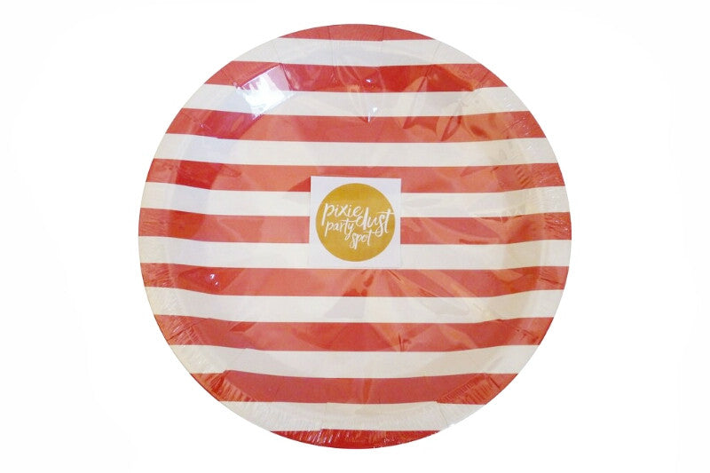Red Striped Plates