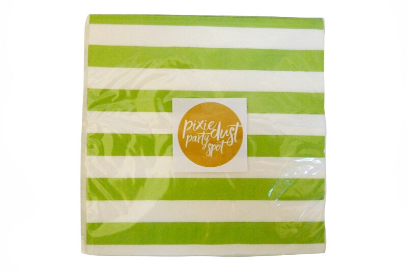 Lime Green Striped Napkins
