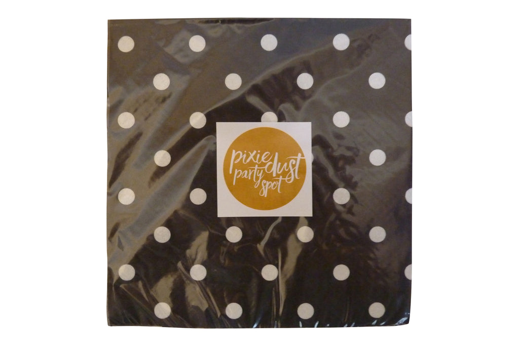 Black Polka Dot Napkins