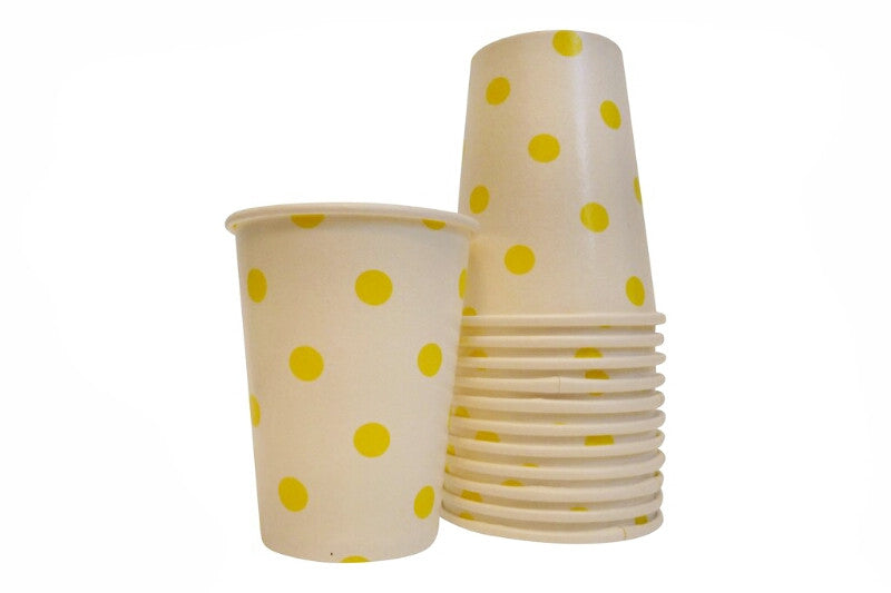 Yellow Polka Dot Cups