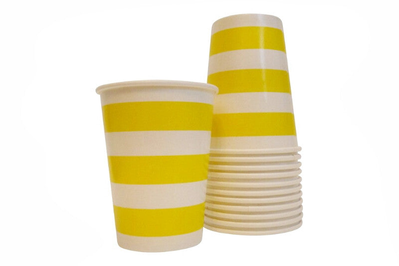 Yellow Striped Cups
