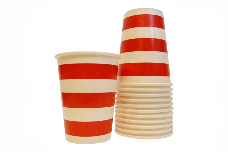 Red Striped Cups