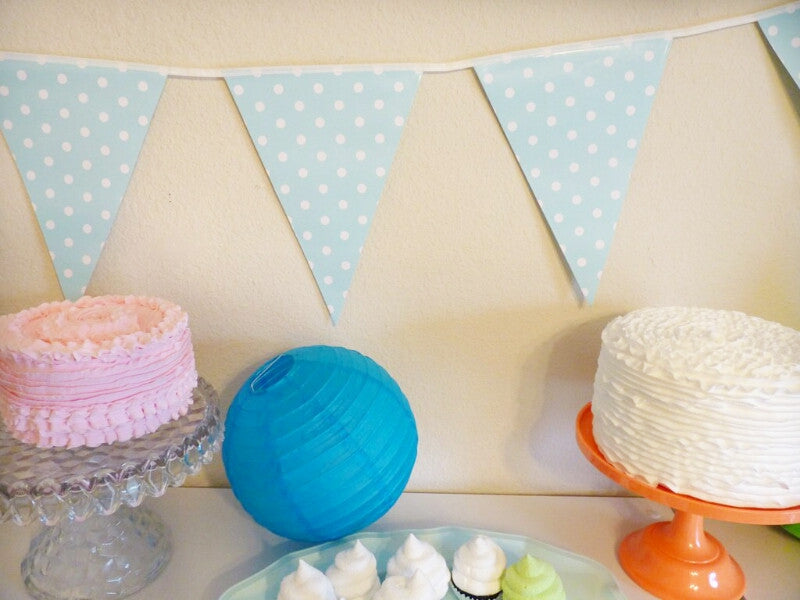 Sky Blue Banners- Striped, Polka Dot, or Chevron