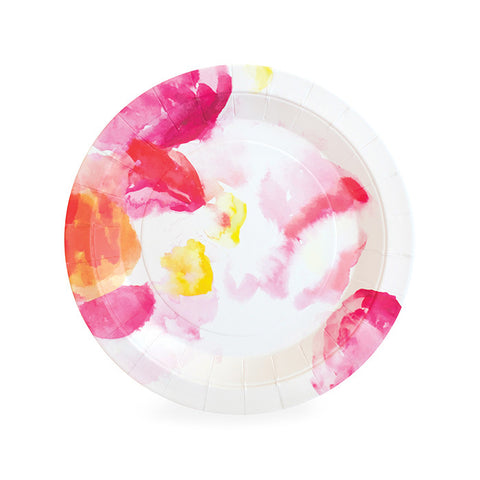 Floral Plates for a Kate Spade Party