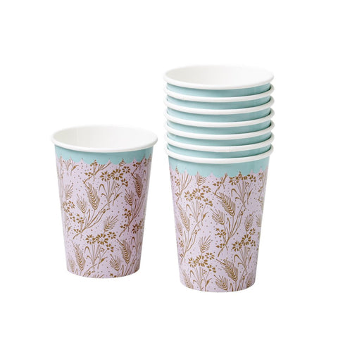 Pink Floral Cups
