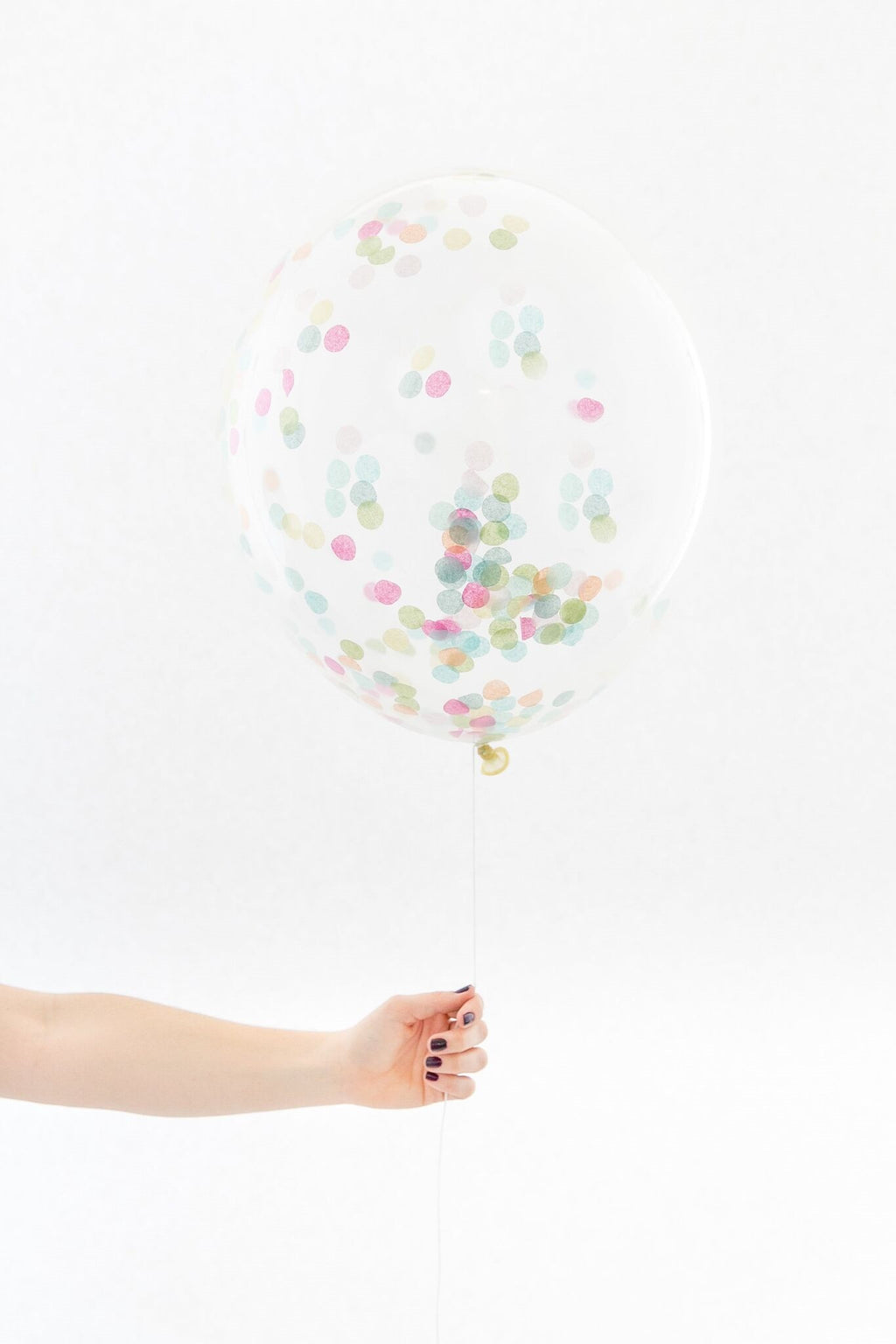 Rainbow Confetti Balloon