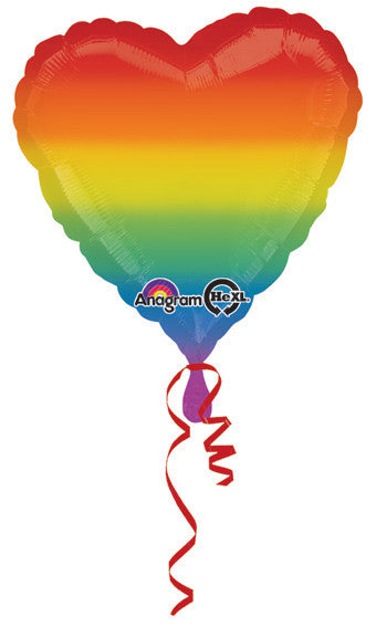 Heart Rainbow Balloon