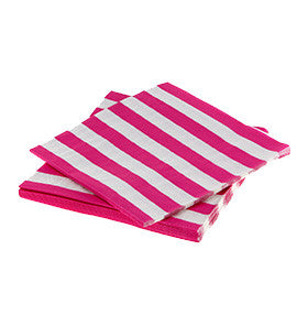 Hot Pink Striped Napkins