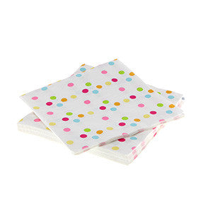 Rainbow Polka Dot Napkins
