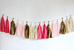 Pink and Gold Tassel Banner
