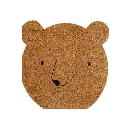 Bear Napkins for Woodland or Camping Birthday Party