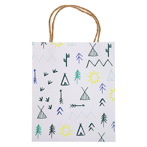 Let's Explore Woodland Themed Birthday Party Gift Bags