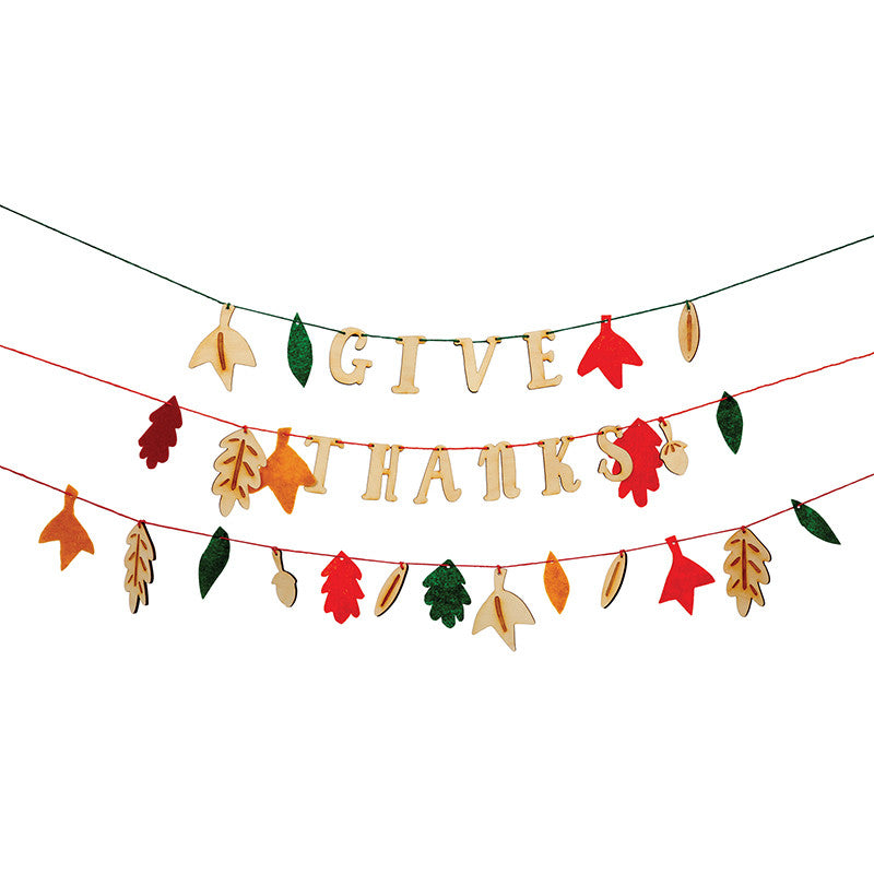 Give Thanks Thanksgiving Decoration and Banner