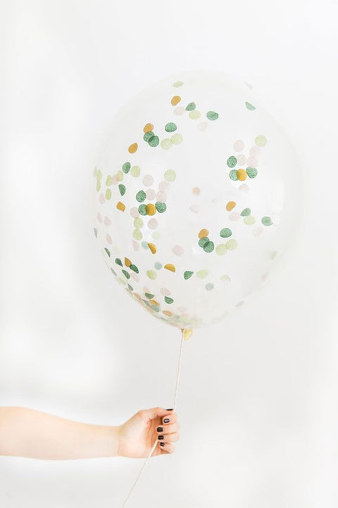 Green Confetti Balloon