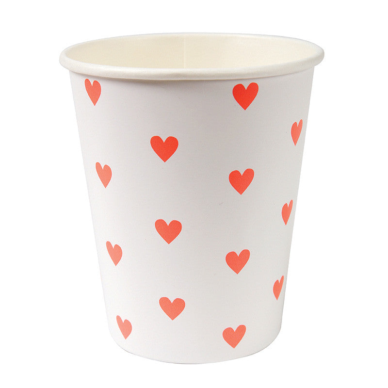 Heart Cups for Valentine's Day Party