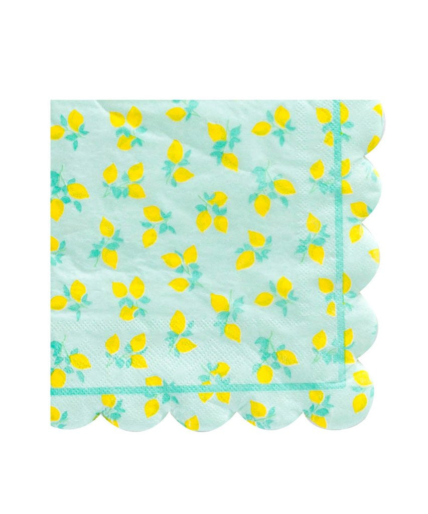 Lemon Napkins for Lemonade Stand Party