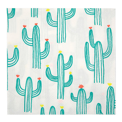 Cactus Napkins for Cactus Party Decorations and Supplies