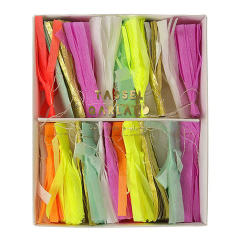 Neon Tassel Banner for Birthday Party
