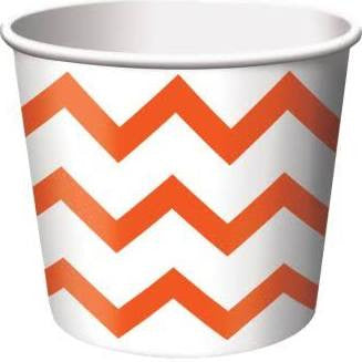 Orange Chevron Treat Cup