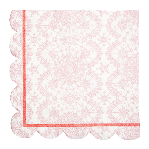 Pink Lace Napkins