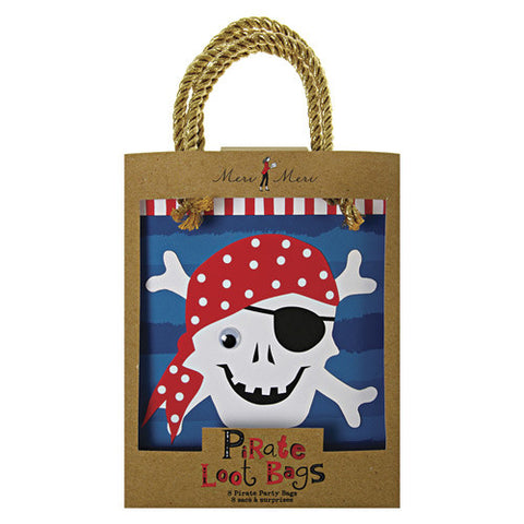 Pirate Party Favor Bags for a Pirate Themed Party
