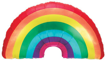Rainbow Balloon for Rainbow Unicorn or Troll Birthday Party