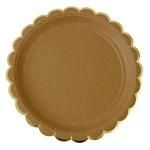 Natural Scalloped Edge Plates -Small