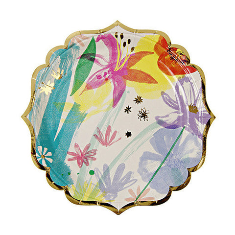Painted Flower Plates for Bridal or Baby Shower