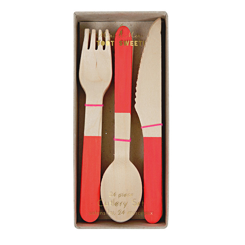 Red Wooden Christmas Utensils