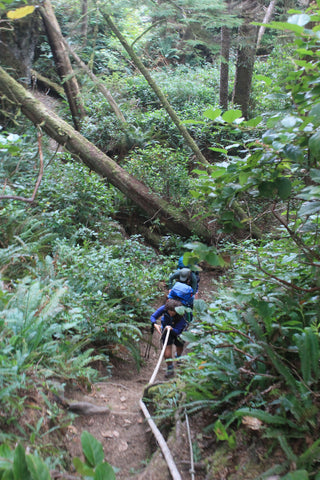 A tricky beach bypass, Nootka Trail