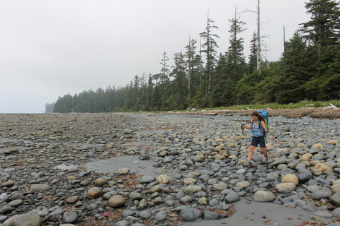 Nootka Trail rock hopping.