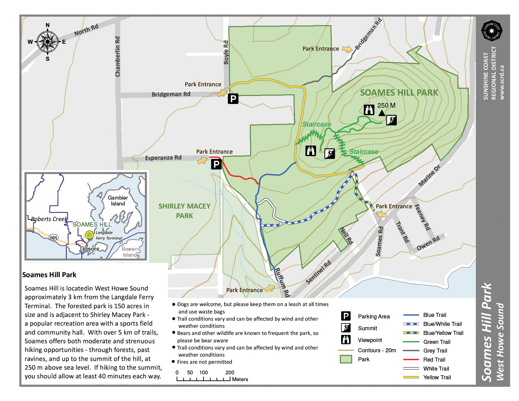 Soames Hill trail map