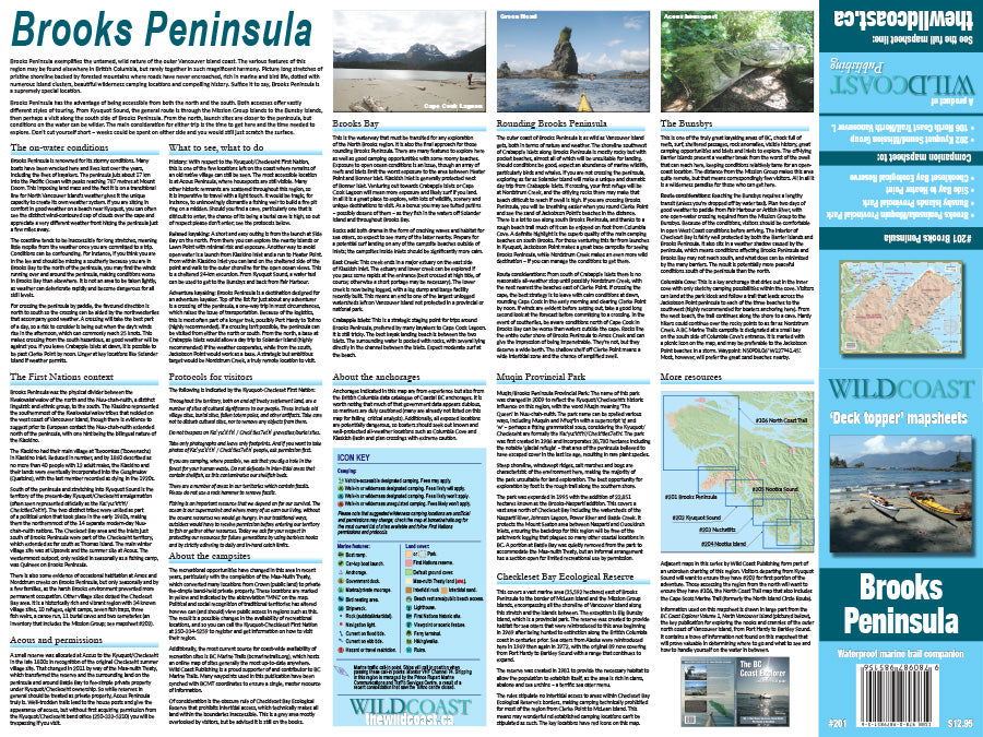 201 Brooks Peninsula Kayaking and Boating Map