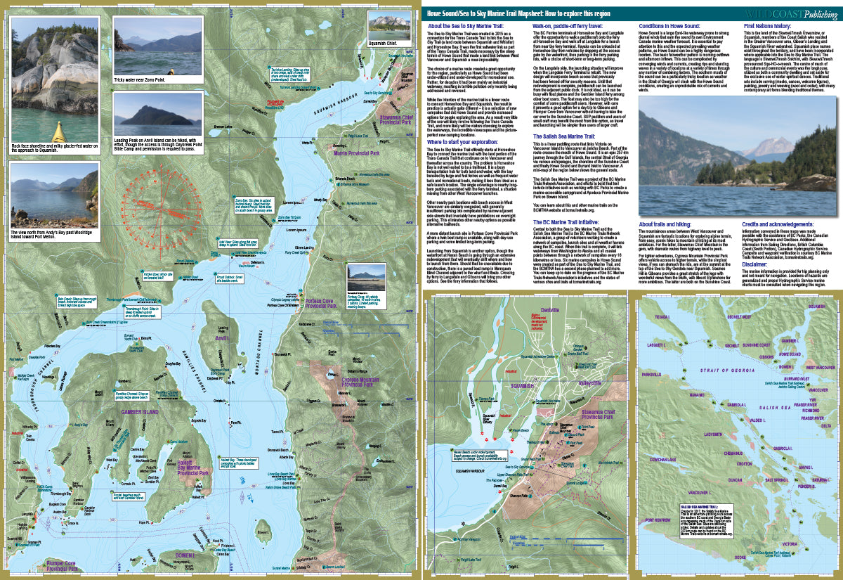 Sea to Sky Marine Trail / Howe Sound kayaking map