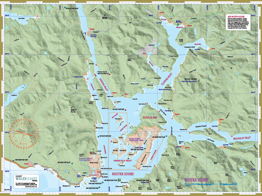 Nootka Sound kayaking and boating map
