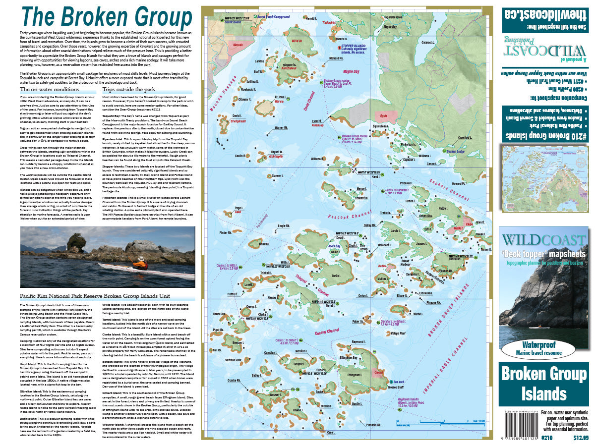 210 Broken Group Islands Kayaking and Boating Map