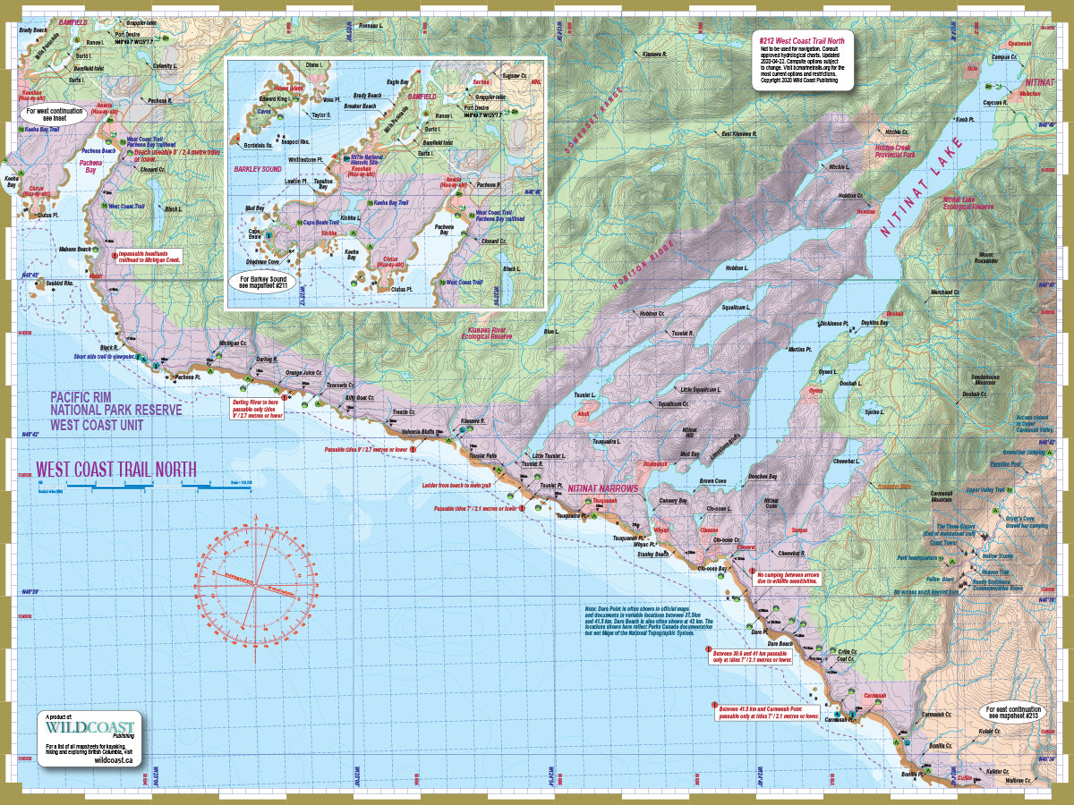 608 West Coast Trail Mapsheet Bundle
