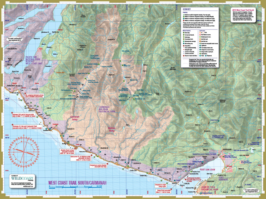 213 West Coast Trail South Trail and Marine Map